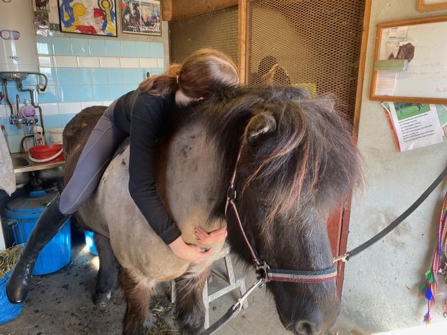 """Hästkärlek, Ida L kramar Heljar, så mysigt att krama """"sin"""" underbara hästkompis."""